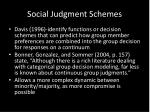 social judgment schemes