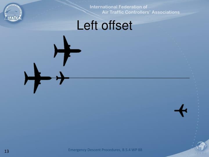 Left offset