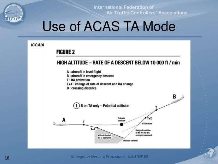 Use of ACAS TA Mode