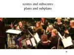 scores and subscores plans and subplans