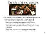 the role of shared practice