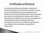 certifica o profissional