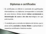 diplomas e certificados