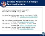 services acquisition strategic sourcing contacts