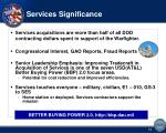 services significance