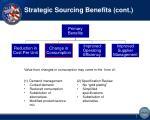 strategic sourcing benefits cont