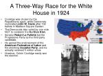a three way race for the white house in 1924