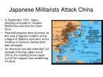 japanese militarists attack china