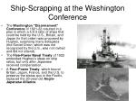 ship scrapping at the washington conference