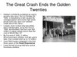 the great crash ends the golden twenties