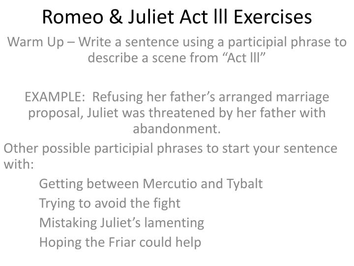 romeo juliet act lll exercises n.
