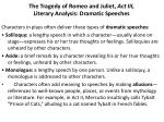 the tragedy of romeo and juliet act iii literary analysis dramatic speeches