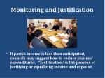 monitoring and justification
