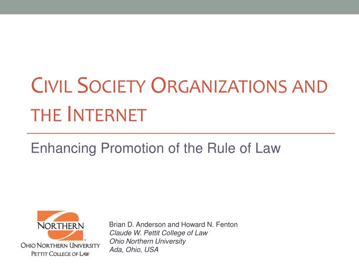 civil society organizations and the internet n.