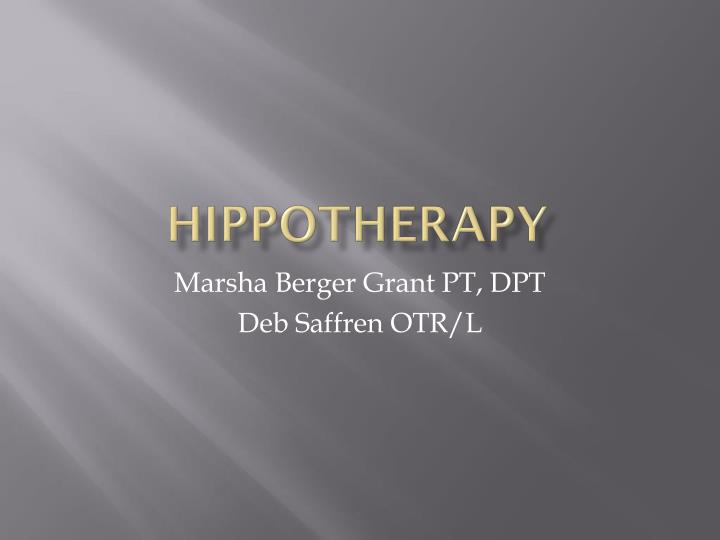 hippotherapy n.