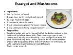 escargot and mushrooms