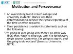 motivation and perseverance