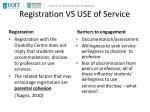 registration vs use of service