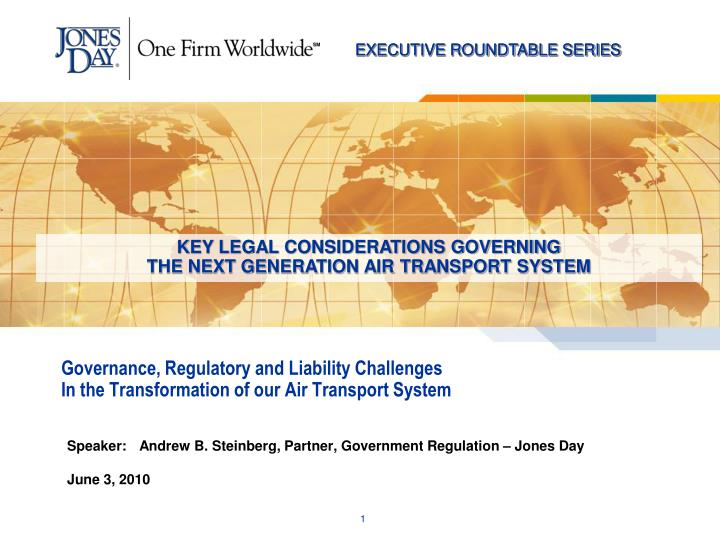 governance regulatory and liability challenges in the transformation of our air transport system n.