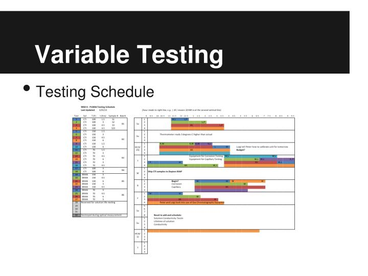 Variable Testing