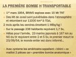 la premi re bombe h transportable