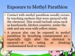 exposure to methyl parathion