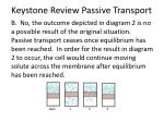 keystone review passive transport2