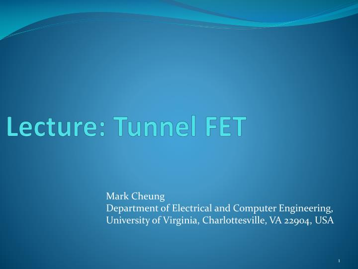lecture tunnel fet n.