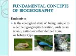 fundamental concepts of biogeography4