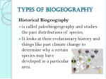 types of biogeography1