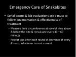 emergency care of snakebites