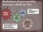 definition of personality disorder dsm iv tr