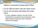 address unwanted compensation effect