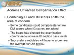 address unwanted compensation effect1