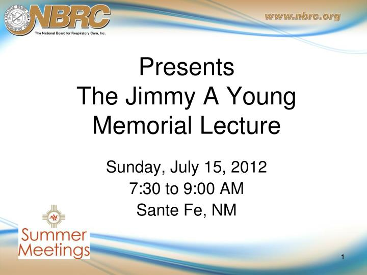 presents the jimmy a young memorial lecture n.