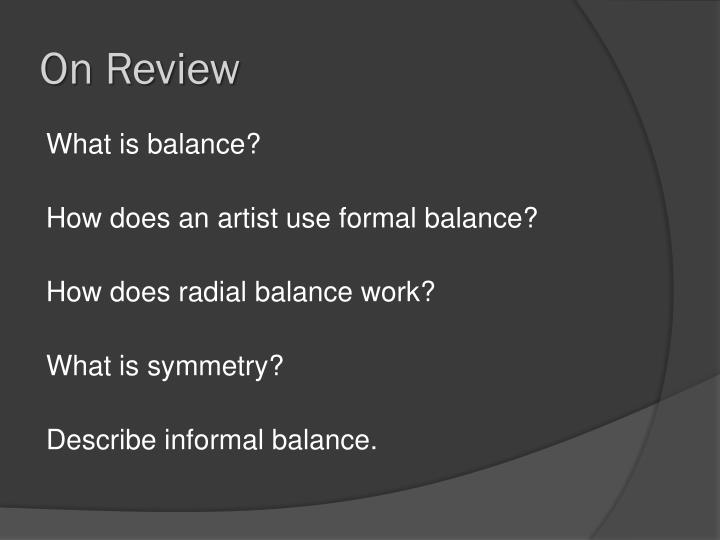 On Review