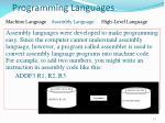 programming languages1