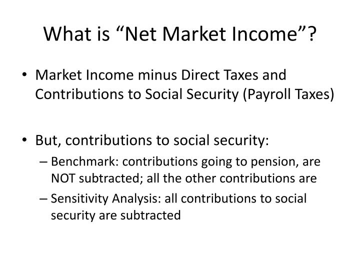 "What is ""Net Market Income""?"