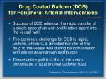 drug coated balloon dcb for peripheral arterial interventions