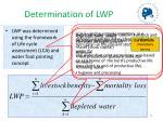determination of lwp