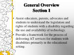 general overview section 1