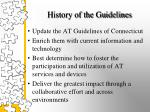 history of the guidelines1