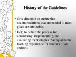 history of the guidelines3