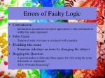 errors of faulty logic