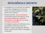 intelig ncia e instinto