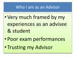 who i am as an advisor