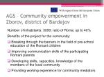 ags community empowerment in zborov district of bardejov