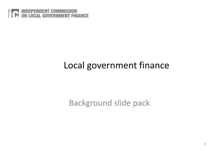 local government finance n.