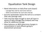 equalization tank design