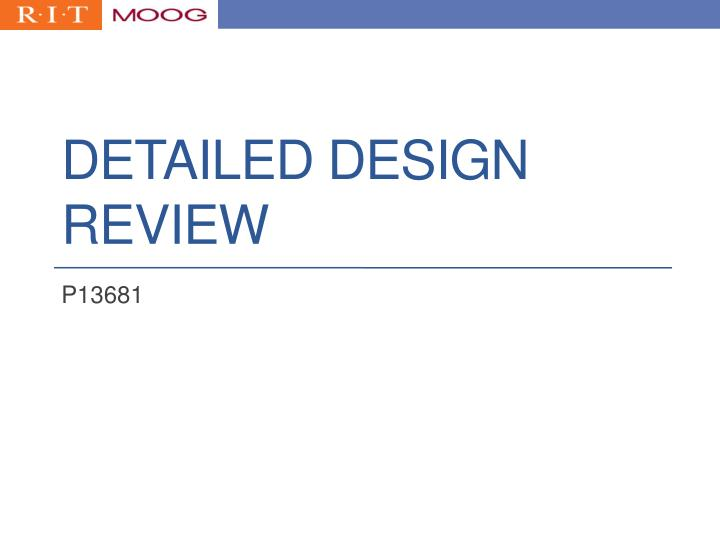 detailed design review n.